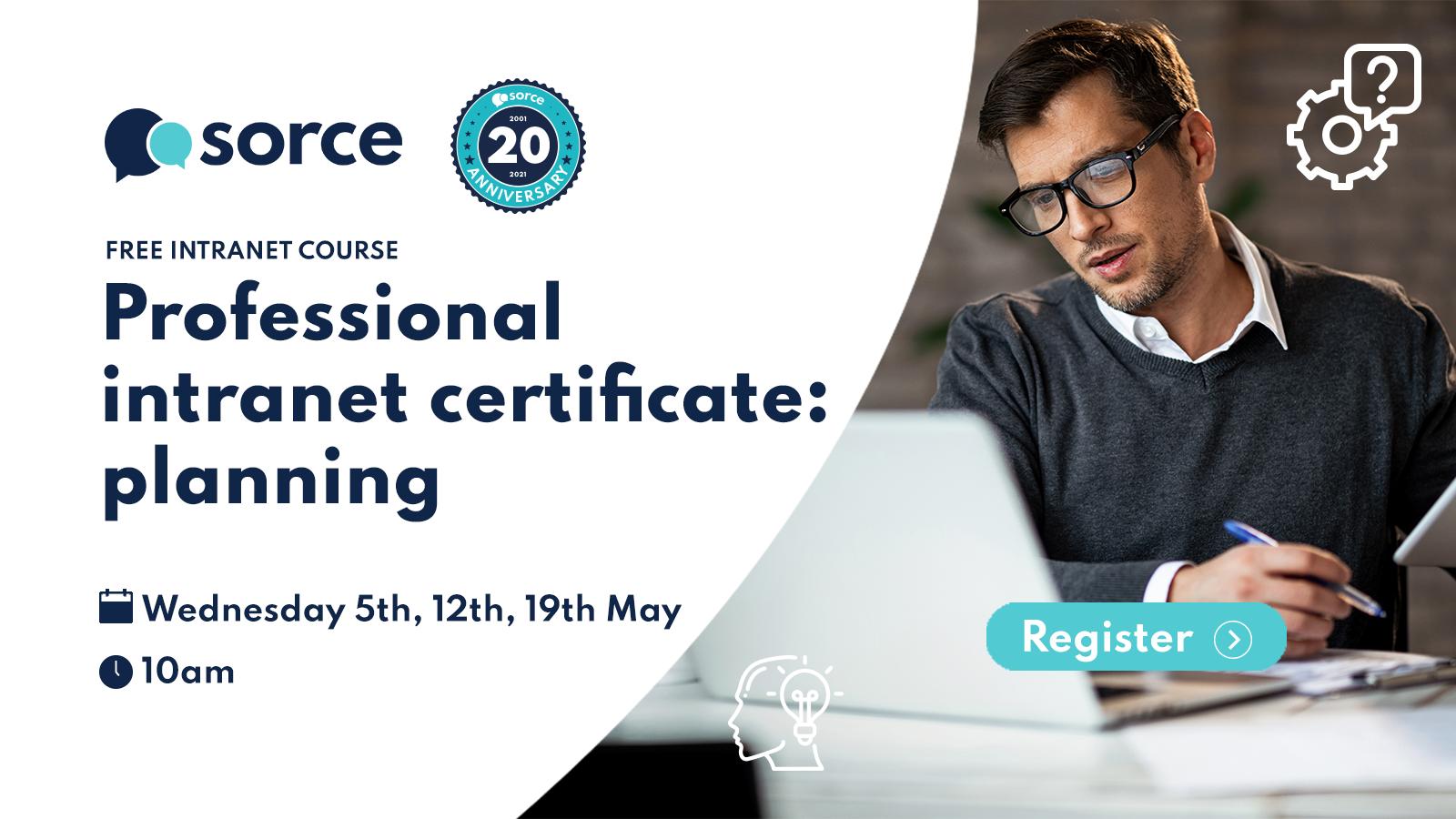Sorce intranet planning certificate